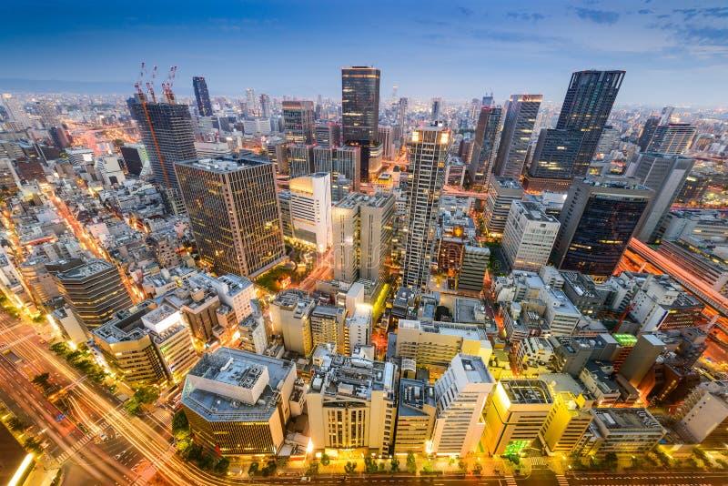De Horizon van Osaka, Japan stock afbeelding