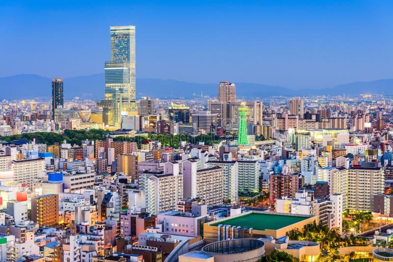 De Horizon van Osaka, Japan stock fotografie