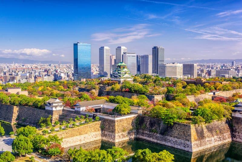De Horizon van Osaka, Japan royalty-vrije stock fotografie