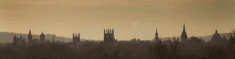 De horizon van Oxford royalty-vrije stock fotografie