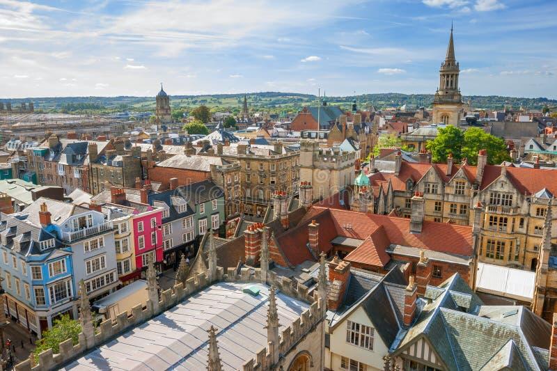 De Horizon van Oxford. Engeland stock afbeelding