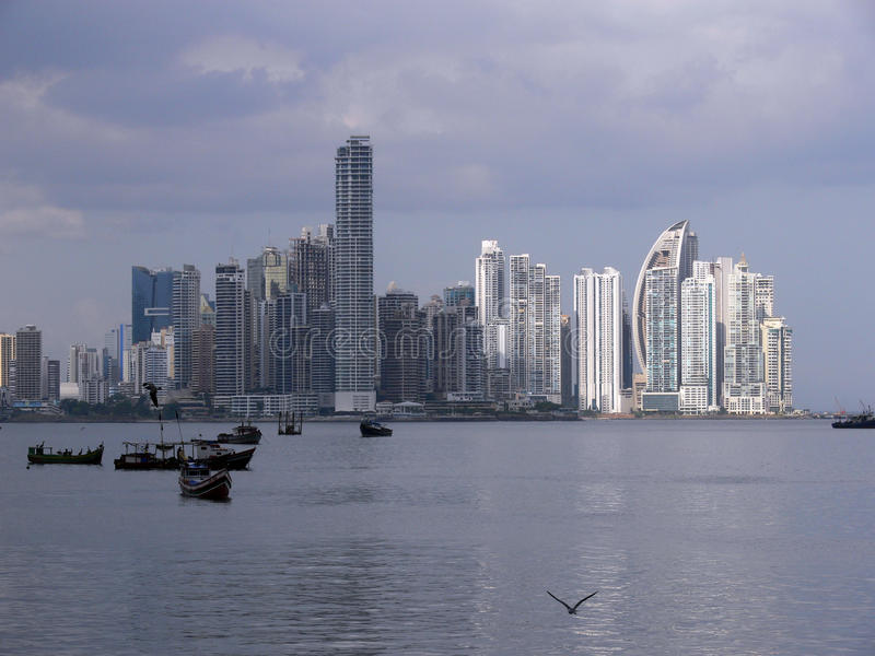 De horizon van Panama royalty-vrije stock foto