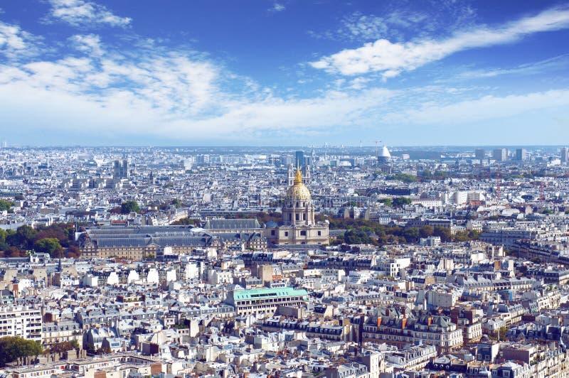 De horizon van Parijs van de toren van Eiffel royalty-vrije stock foto