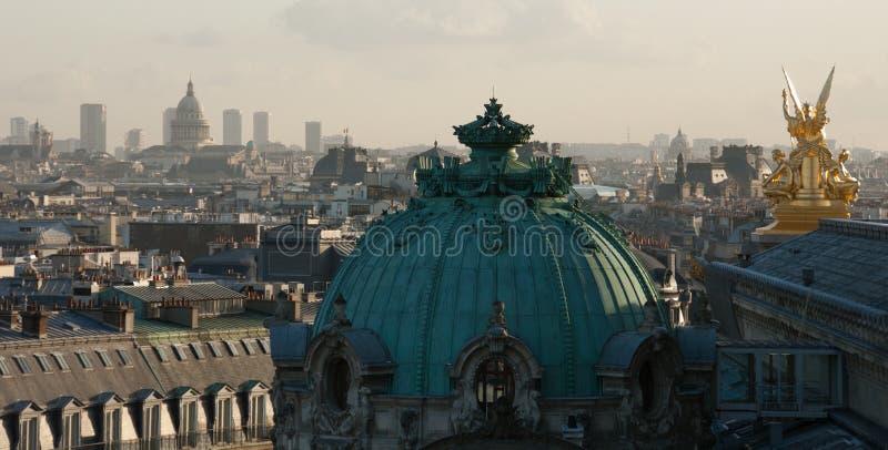 De Horizon van Parijs van Notre Dame de Paris stock afbeelding
