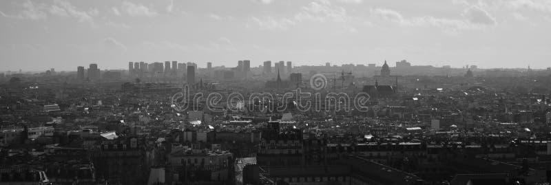 De Horizon van Parijs van Notre Dame de Paris stock foto