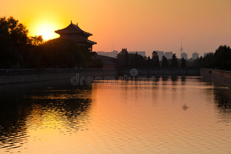 De horizon van Peking stock foto's