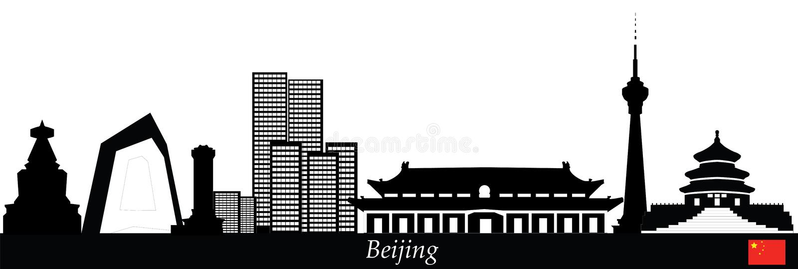 De horizon van Peking stock illustratie