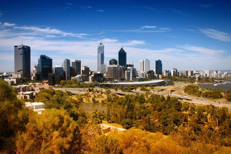 De horizon van Perth royalty-vrije stock fotografie