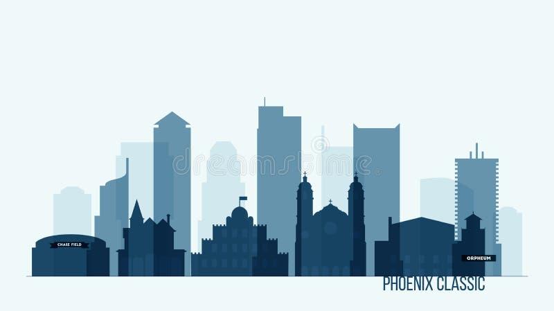 De horizon van Phoenix met gebouwen vectorillustratie vector illustratie