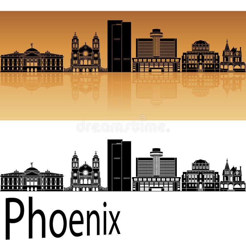 De horizon van Phoenix in sinaasappel vector illustratie