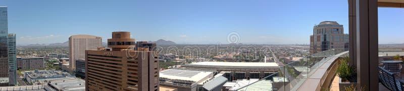De Horizon van Phoenix van de binnenstad, Arizona royalty-vrije stock foto's