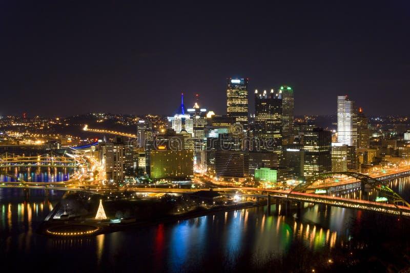 De horizon van Pittsburgh royalty-vrije stock fotografie