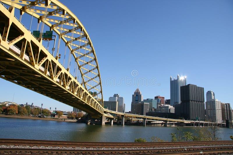 De horizon van Pittsburgh stock foto's