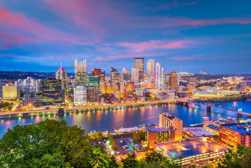 De Horizon van Pittsburgh, Pennsylvania, de V.S. royalty-vrije stock foto's