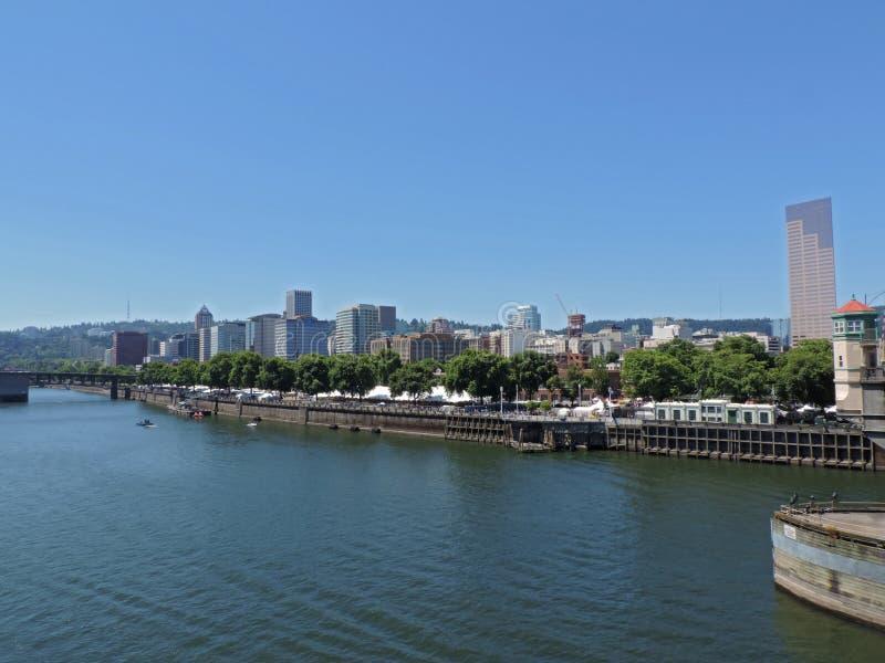 De Horizon van Portland royalty-vrije stock foto