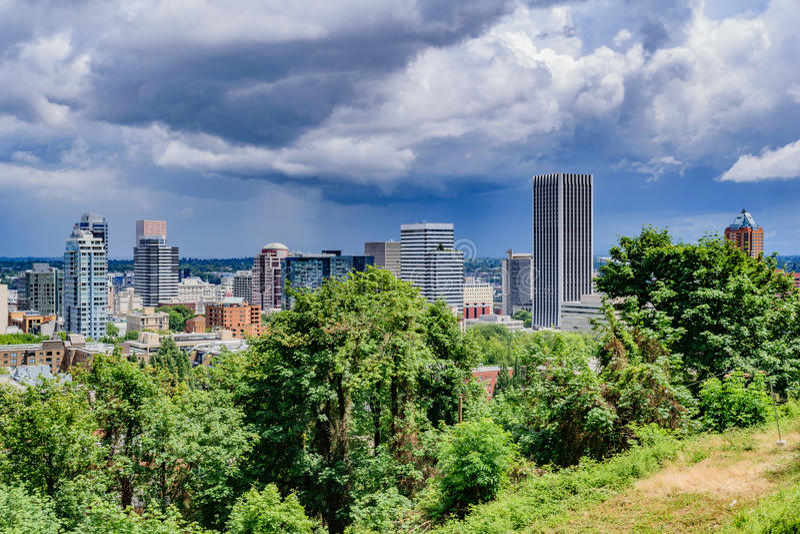 De Horizon van Portland stock foto