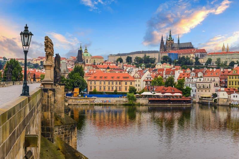 De horizon van Praag stock afbeelding