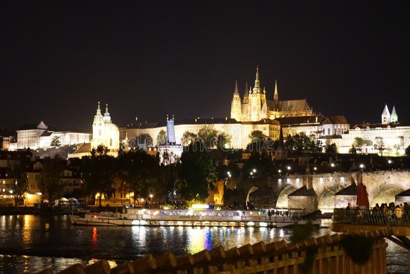 De horizon van Praag stock fotografie