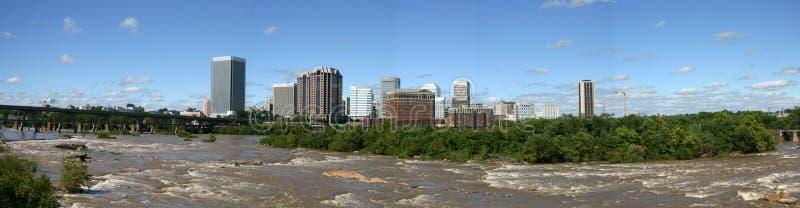 De Horizon van Richmond - Panorama stock afbeelding