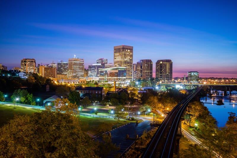 De horizon van Richmond van de binnenstad, Virginia stock afbeelding