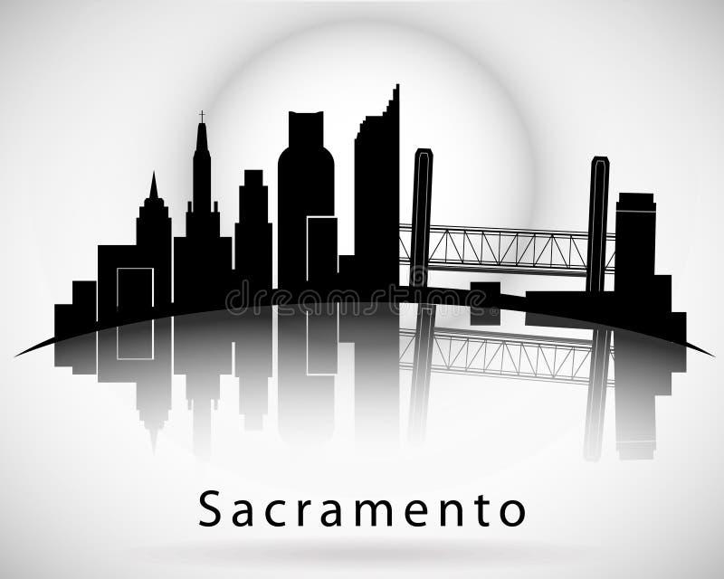 De Horizon van Sacramento vector illustratie