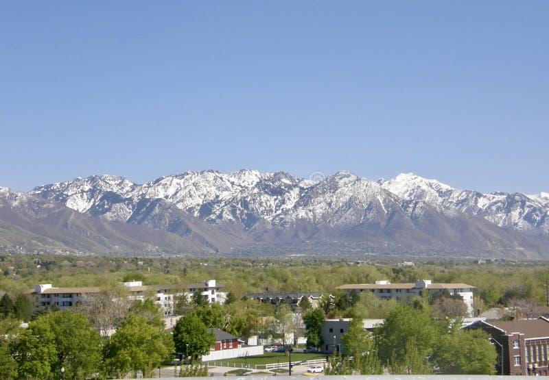 De horizon van Salt Lake City Utah stock foto's
