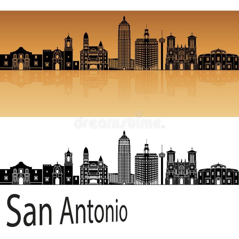 De horizon van San Antonio in sinaasappel vector illustratie