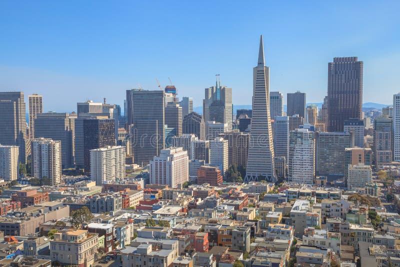 De horizon van San Francisco royalty-vrije stock foto
