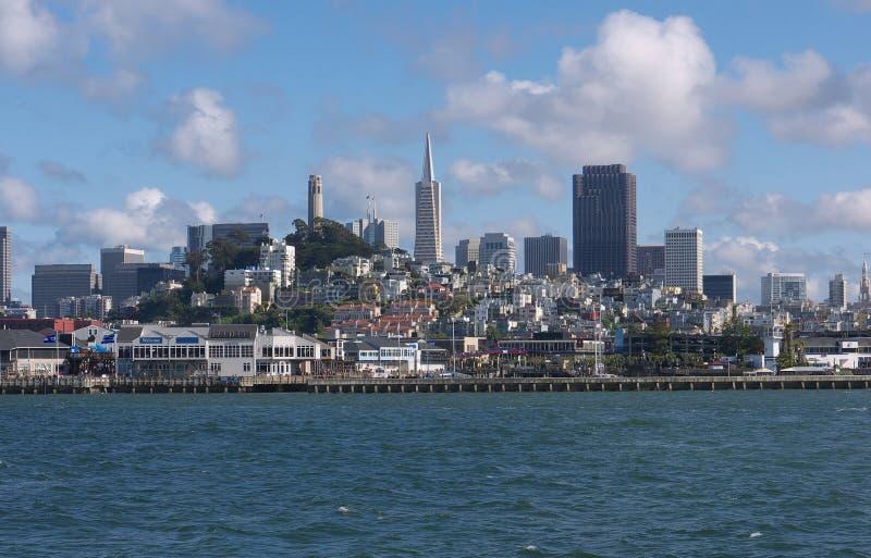 De horizon van San Francisco van de Baai royalty-vrije stock foto's