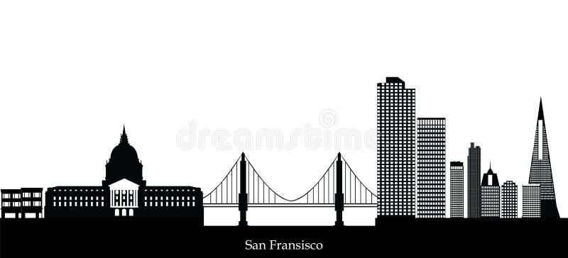 De Horizon van San Fransisco vector illustratie