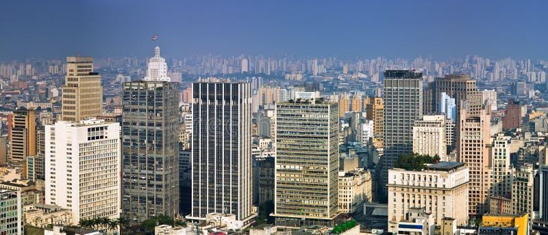 De horizon van San Paolo, Brazilië royalty-vrije stock afbeeldingen