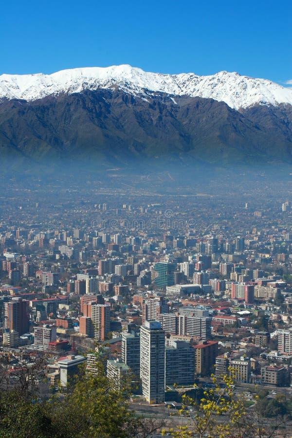De Horizon van Santiago stock afbeelding