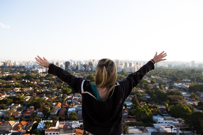 De horizon van Sao Paulo royalty-vrije stock afbeeldingen