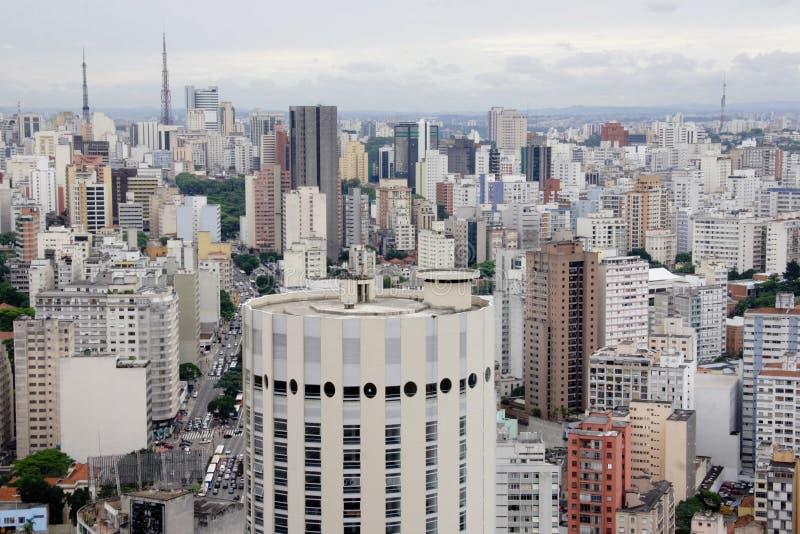 De Horizon van Sao Paulo stock afbeelding