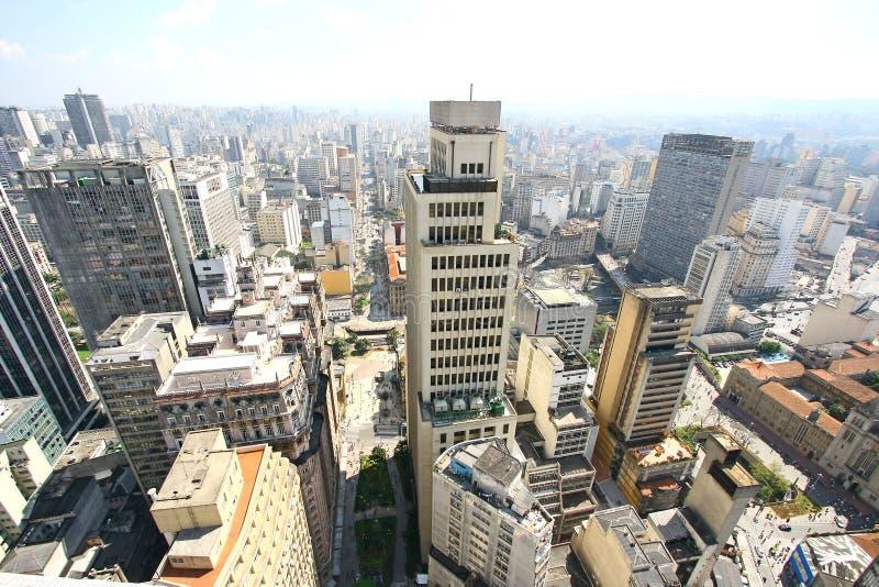 De horizon van Sao Paulo, Brazilië. stock foto