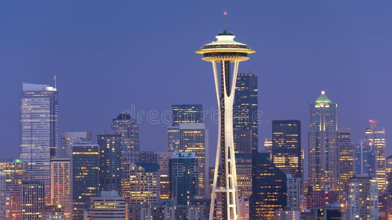 De Horizon van Seattle stock foto's