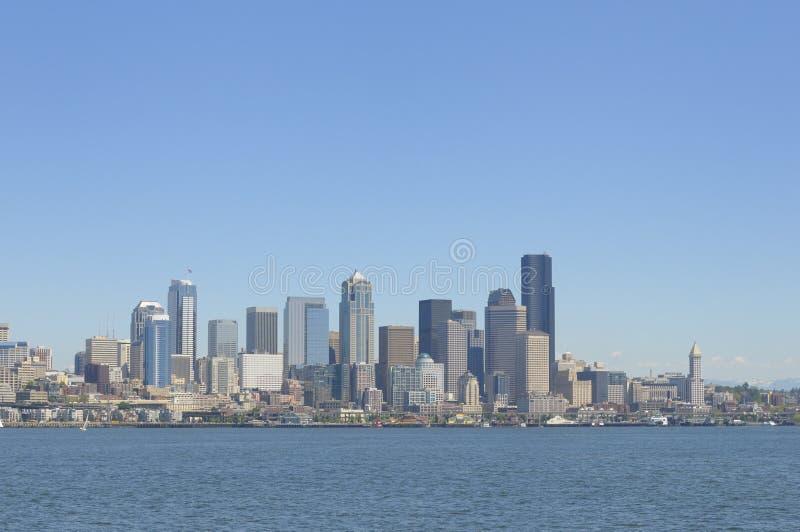 De horizon van Seattle royalty-vrije stock afbeeldingen