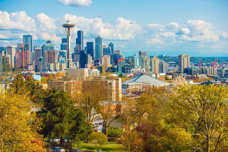 De Horizon van Seattle Washington stock foto