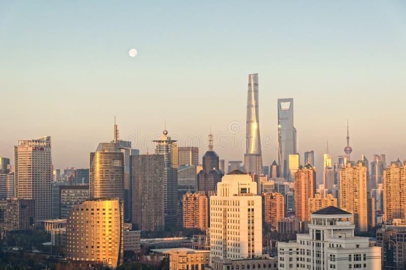 De Horizon van Shanghai Lujiazui China stock afbeeldingen