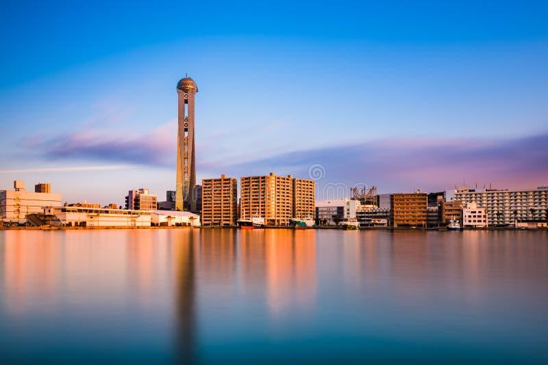 De Horizon van Shimonoseki, Japan royalty-vrije stock foto