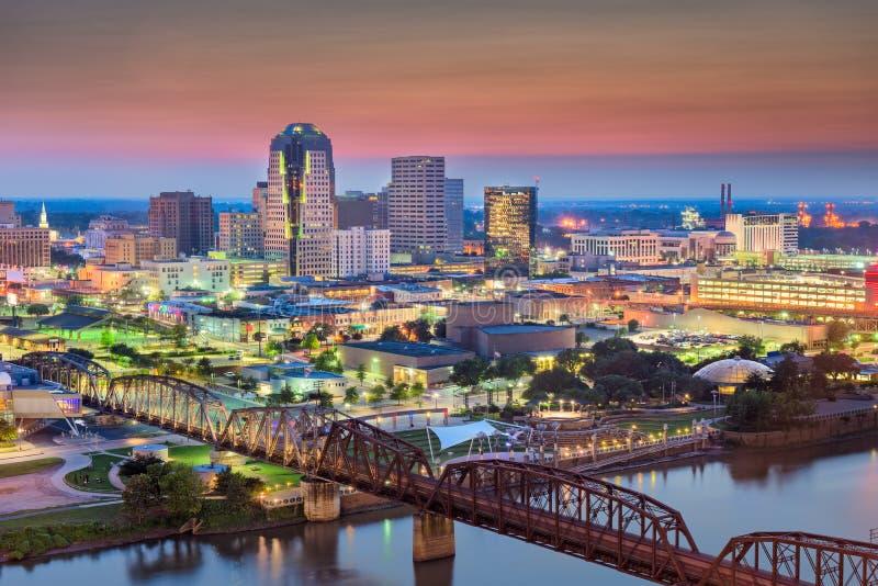 De Horizon van Shreveport, Louisiane, de V.S. royalty-vrije stock afbeeldingen