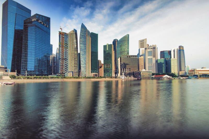 De Horizon van Singapore CBD royalty-vrije stock foto's