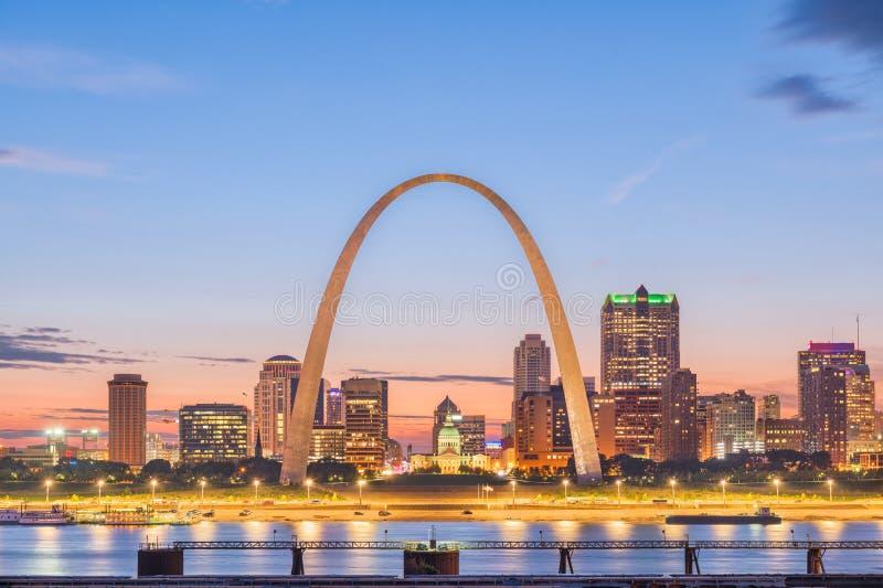 De Horizon van St.Louis, Missouri, de V.S. stock foto's