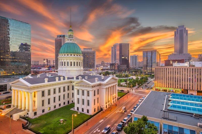 De Horizon van St.Louis, Missouri, de V.S. stock afbeeldingen