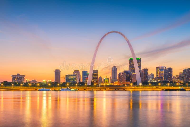 De Horizon van St.Louis, Missouri, de V.S. royalty-vrije stock afbeeldingen