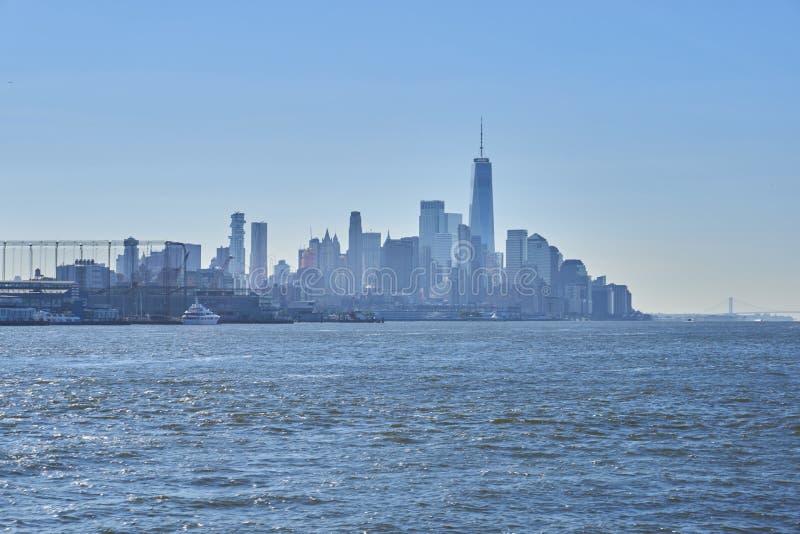 De Horizon van de Stad van New York royalty-vrije stock afbeeldingen