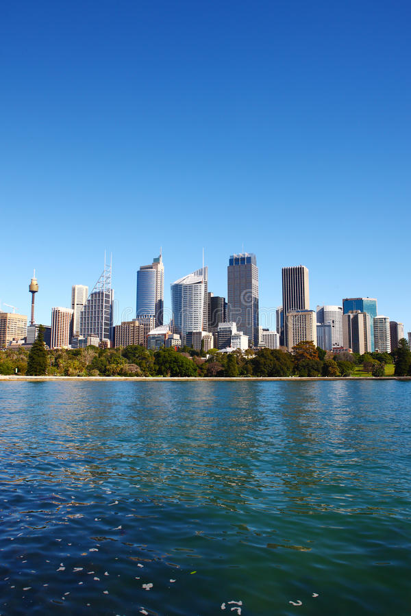 De horizon van Sydney stock foto