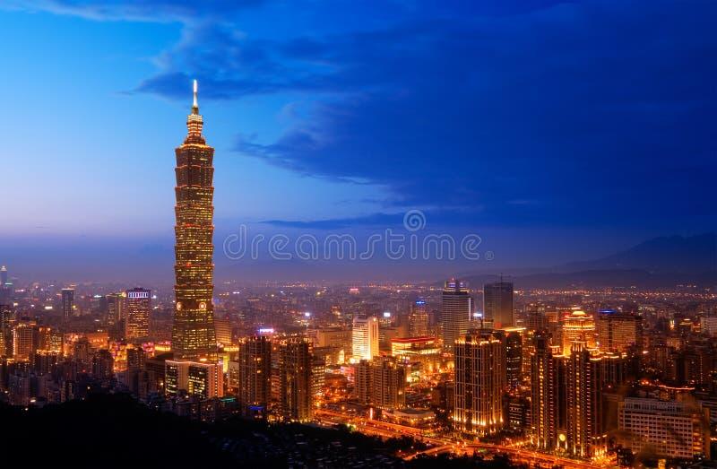 De horizon van Taipeh royalty-vrije stock foto