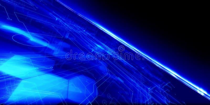 De Horizon van technologie stock illustratie