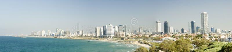 De horizon van Tel Aviv royalty-vrije stock foto's